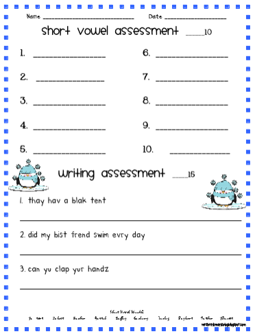 Short Vowels Reading Work book 2003 The Learning Line Grades 1 - 2