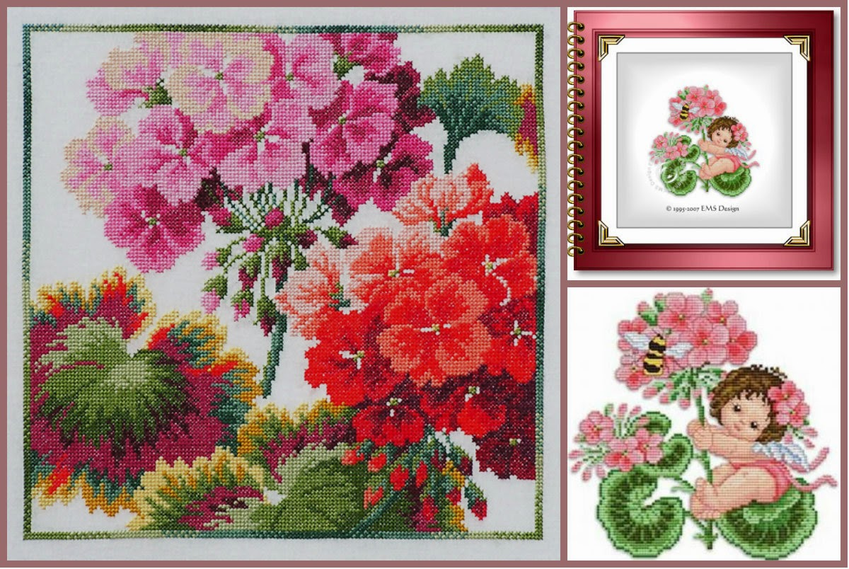 схема для вышивания крестиком зимний цветок 1 2014