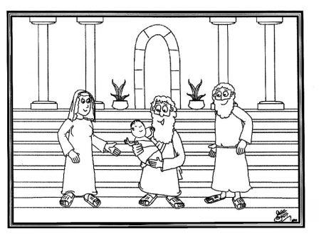 Portal Escuela Dibujo: Presentación de Jesus al Templo. Simeón