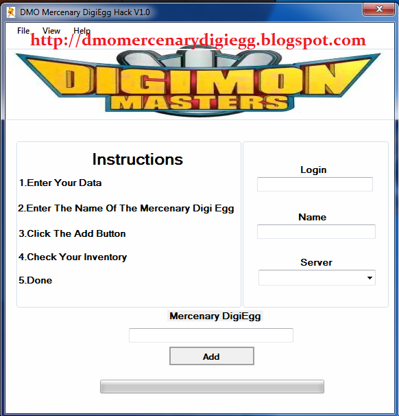 Digimon Masters Online Mercenary DigiEgg Hack