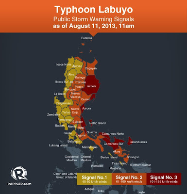 Labuyo threatens Luzon (August 11, 2013 Update) | Philippine News Blog