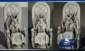 Satanic Temple unveils 7-foot goat-headed Baphomet statue for Oklahoma Capitol