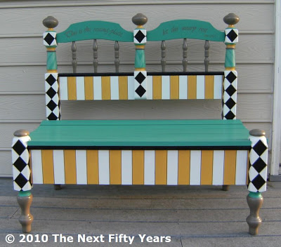 How to Build and Paint a Headboard Bench