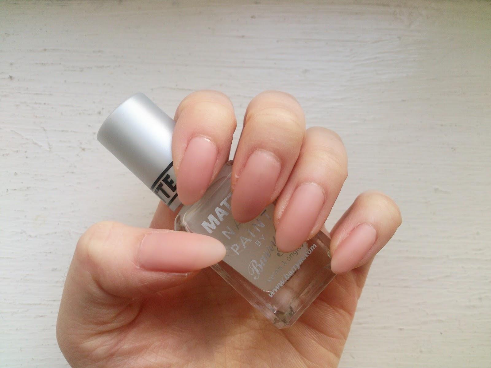 That\'s Linda ♡: Matte Almond Nails