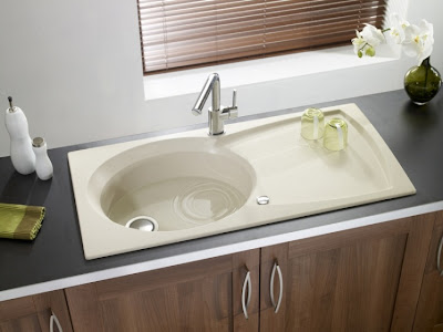 modern ceramic kitchen sink - middle size