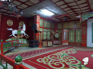 Performance hall of the Tumen Ekh Ensemble - left side
