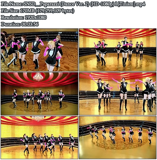 Download PV SNSD (Girls&#39; Generation / ) - Paparazzi (Dance Version 2) (Full HD 1080p)