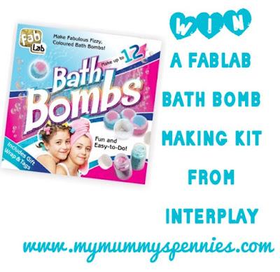 Win a FabLab Bathbomb Making Kit from Interplay