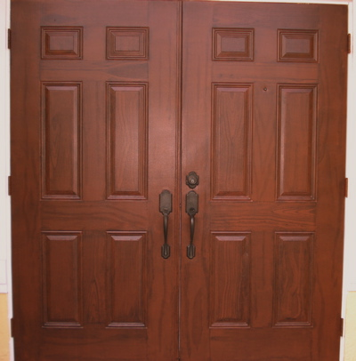 Faux painting get advice and tips from a professional for Faux wood front doors