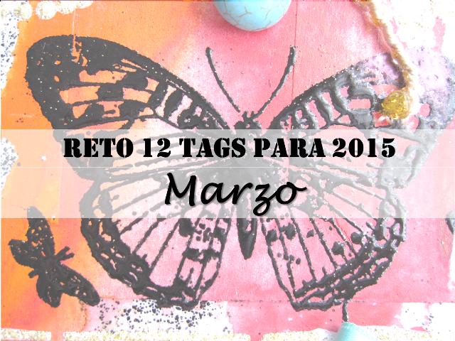 """tag """"Celebrating Springtime"""" con una mariposa con título: Reto 12 tags para 2015: Marzo"""