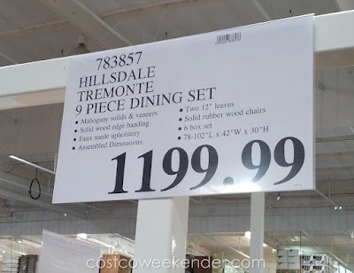 Deal for the Hillsdale Tremonte 9 piece Dining Set at Costco
