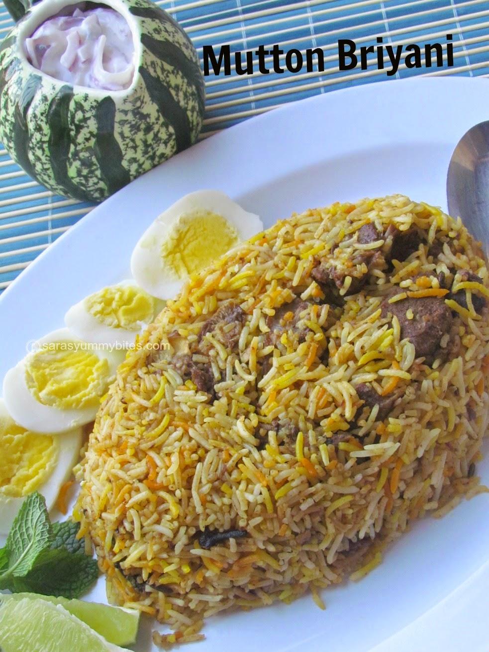 Mutton Dum Briyani / Muslim Style Mutton Briyani / Bhai Briyani