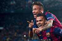 Neymar scored twice in the 2-0 win against PSG