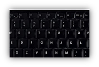 "Configurações do teclado ""Windows XP"""