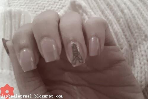 Purple Paris Nails - Eiffel Tower