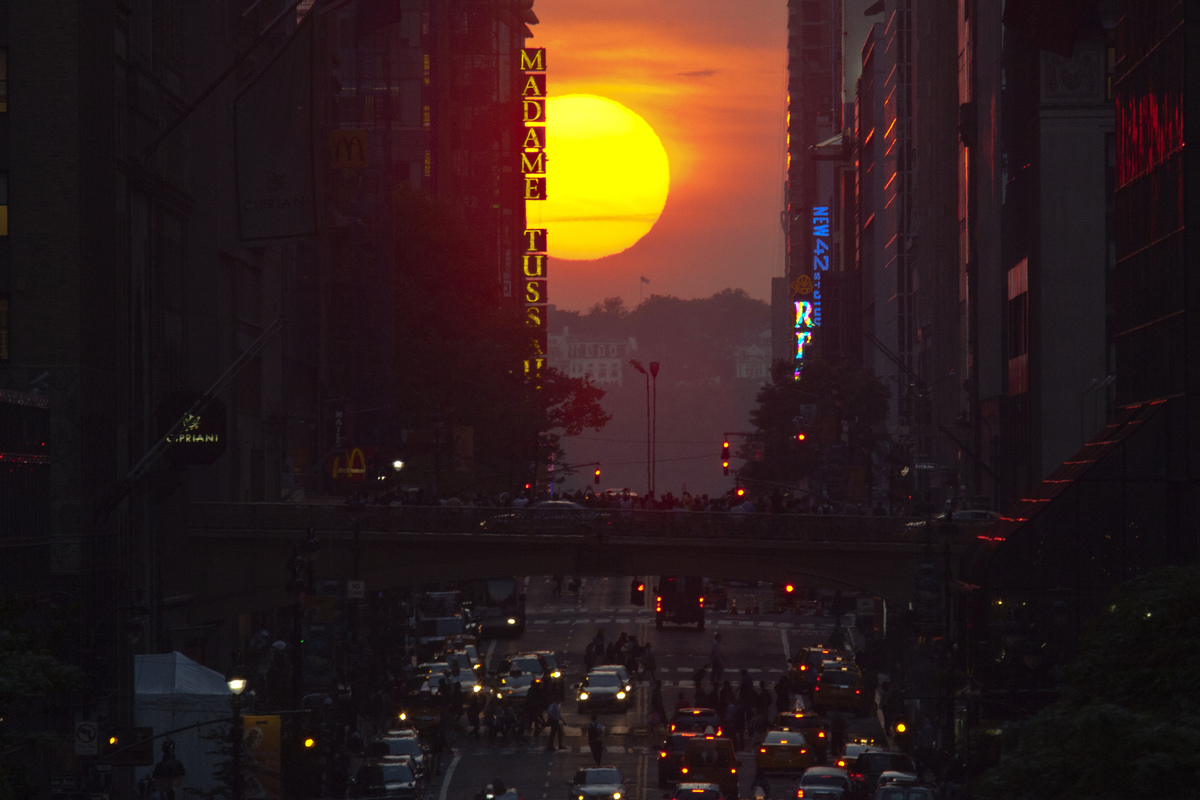 Le phénomène du Manhattanhenge