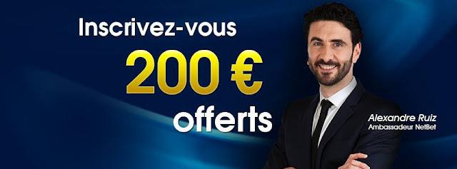 NetBet™ Bonus 200 € Gratuits de Bienvenue pour parier