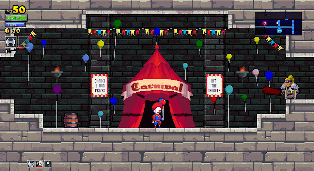 Rogue Legacy clown carnival tent challenge