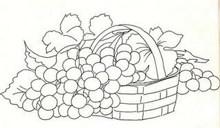cestaa com uvas