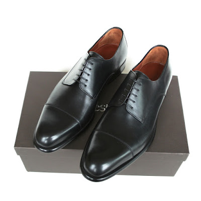 a testoni cap toe lux calf leather oxfords