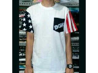 T Shirt DGK White List Black Red