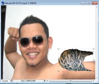 langkah4 Membuat Tattoo di Badan Dengan Photoshop CS3