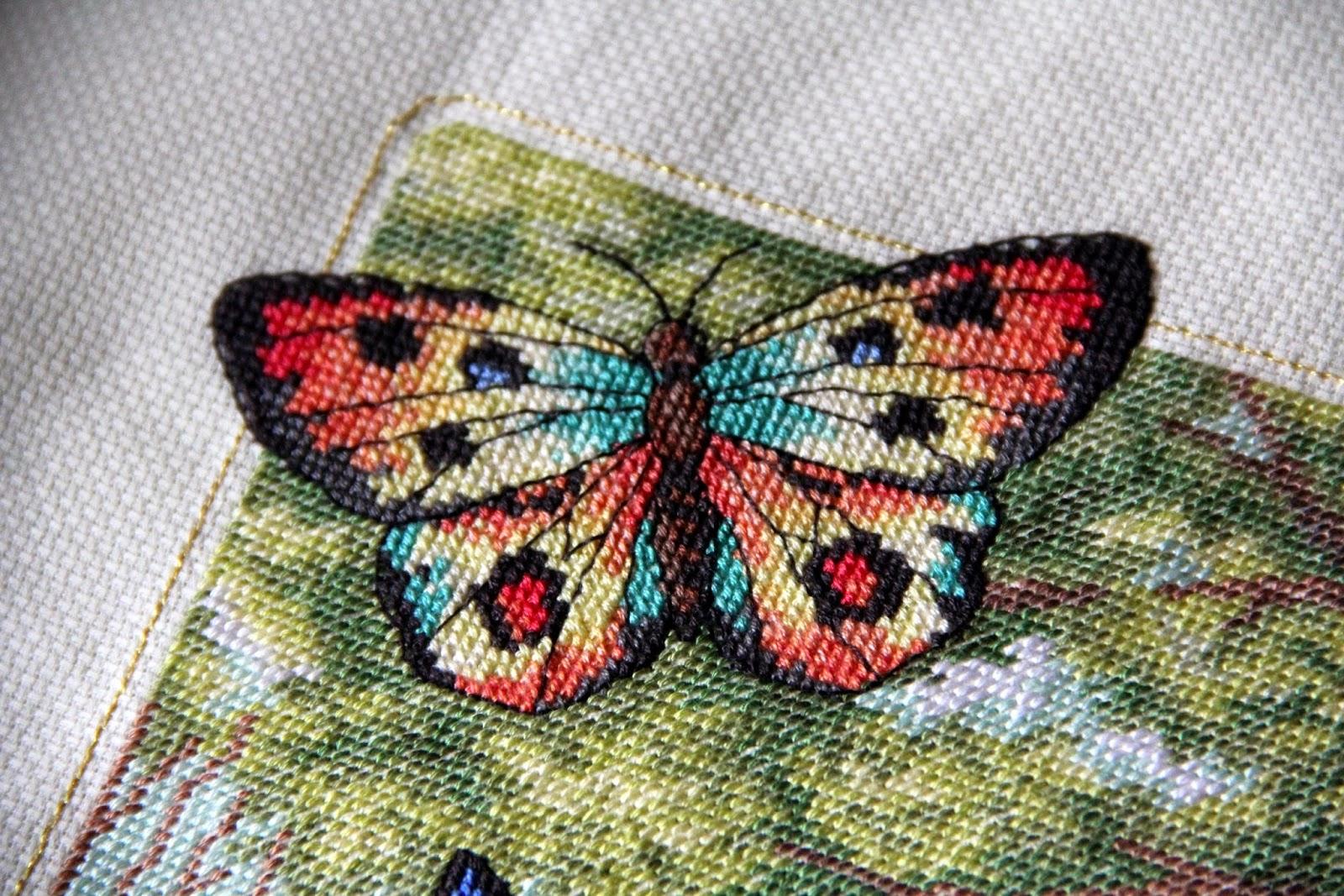 Лес бабочек схема вышивки 29