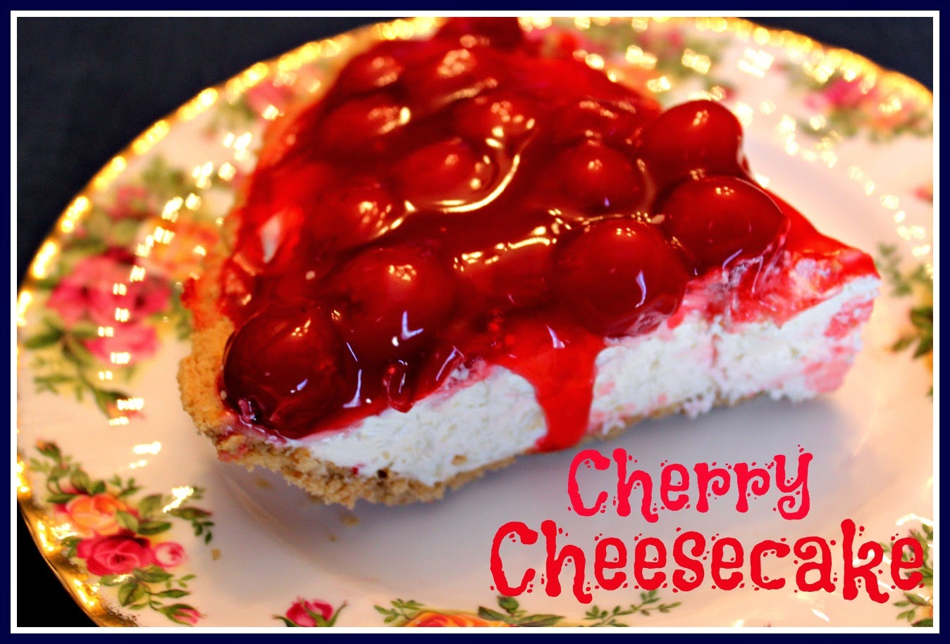 Sweet Tea and Cornbread: Easy Peasy Cherry Cheesecake!