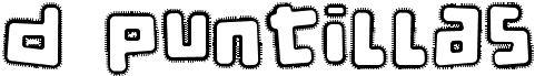 d puntillas tipografía de bordados