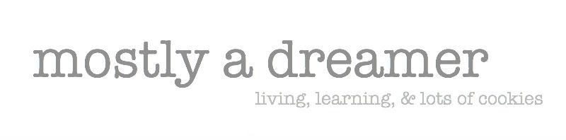 mostly a dreamer