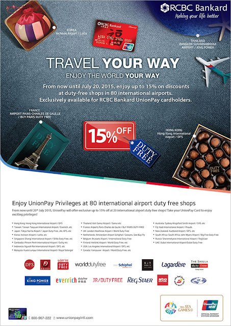 RCBC Credit Card: Travel Your Way with RCBC Bankard UnionPay