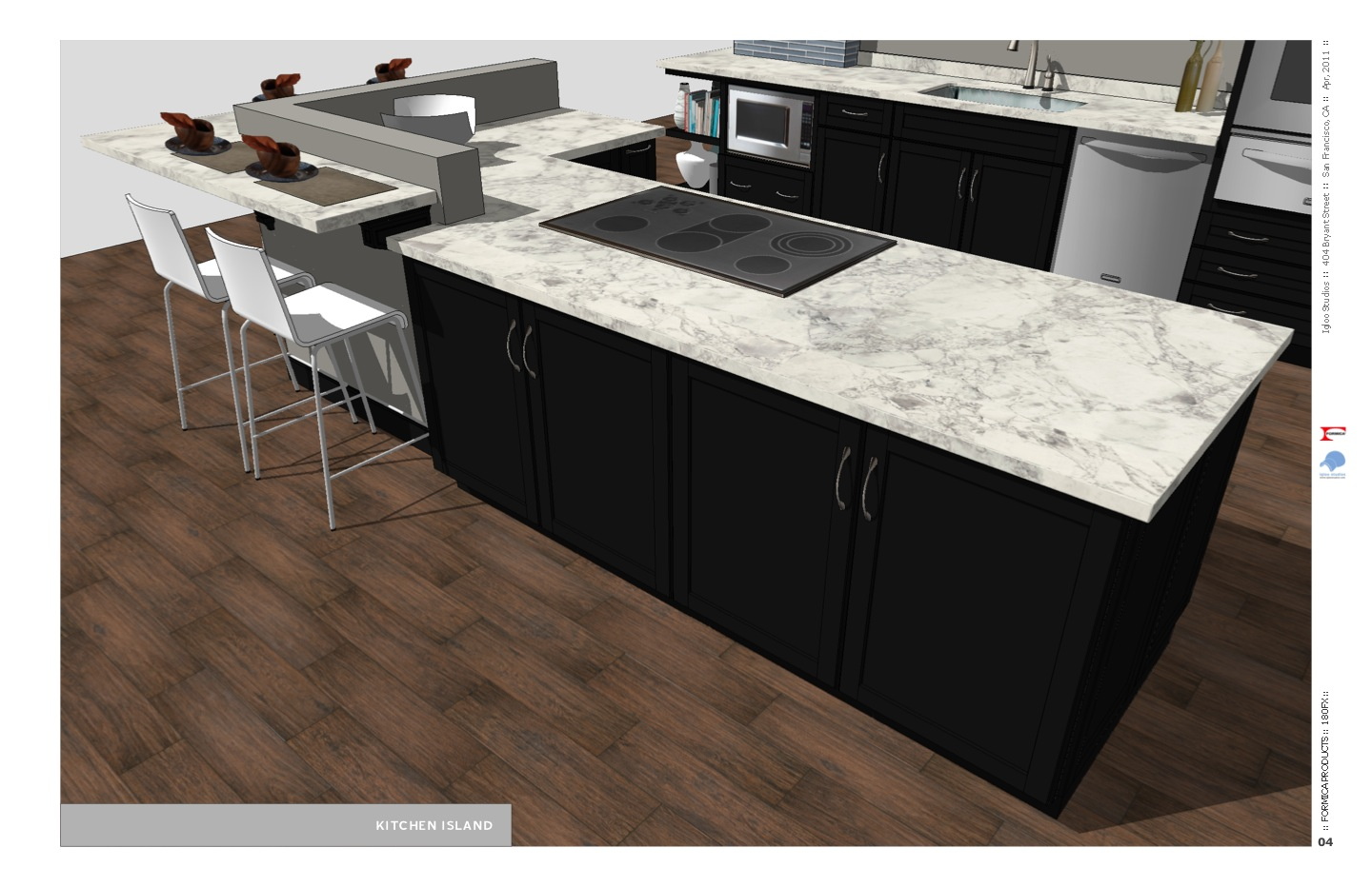 Countertop Formica : Kitchen Island with Bianca Luna 180FX by Formica