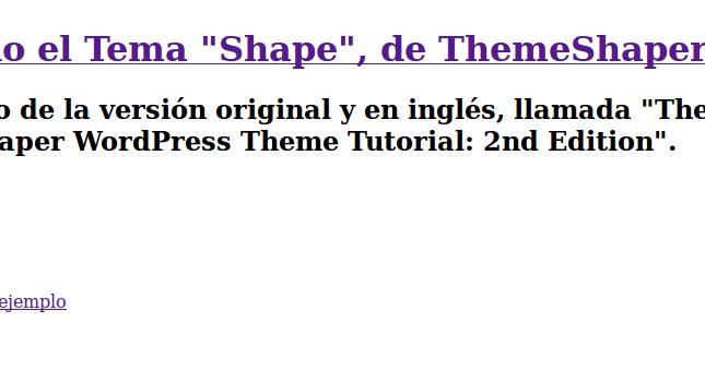 JavierSam: 7. La plantilla cabecera del tema de WordPress: header.php