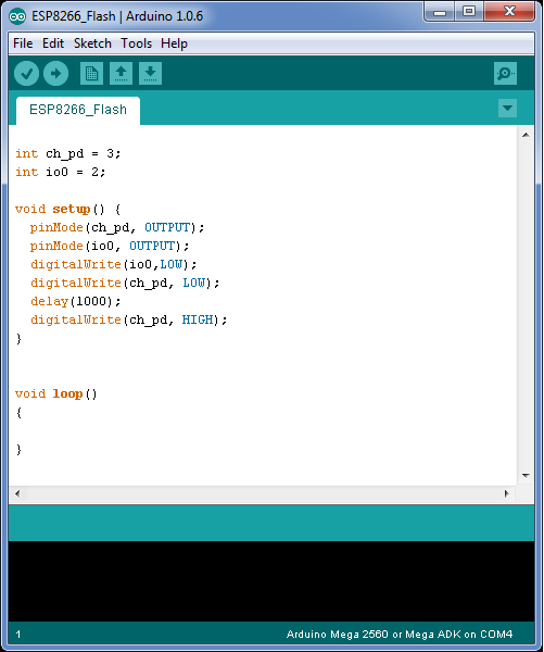 Arduino ide x and set upload mode code