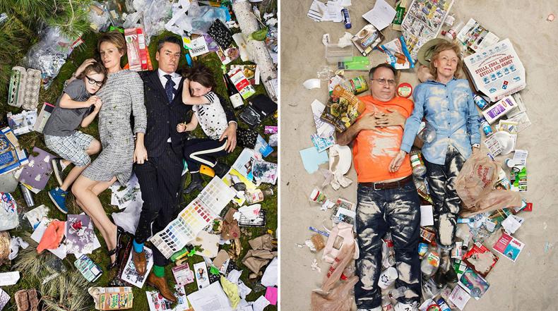 Aterradoras fotos de gente tirada en su basura acumulada en 7 días
