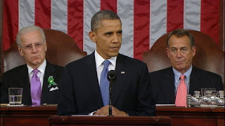 President Obama delivering state of the Union to Congress
