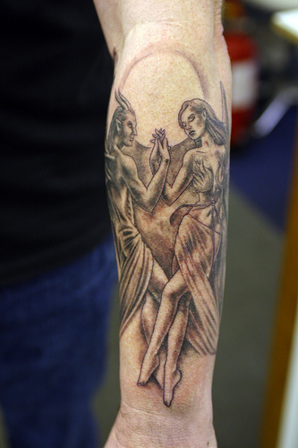 Guardian angel tattoos for men