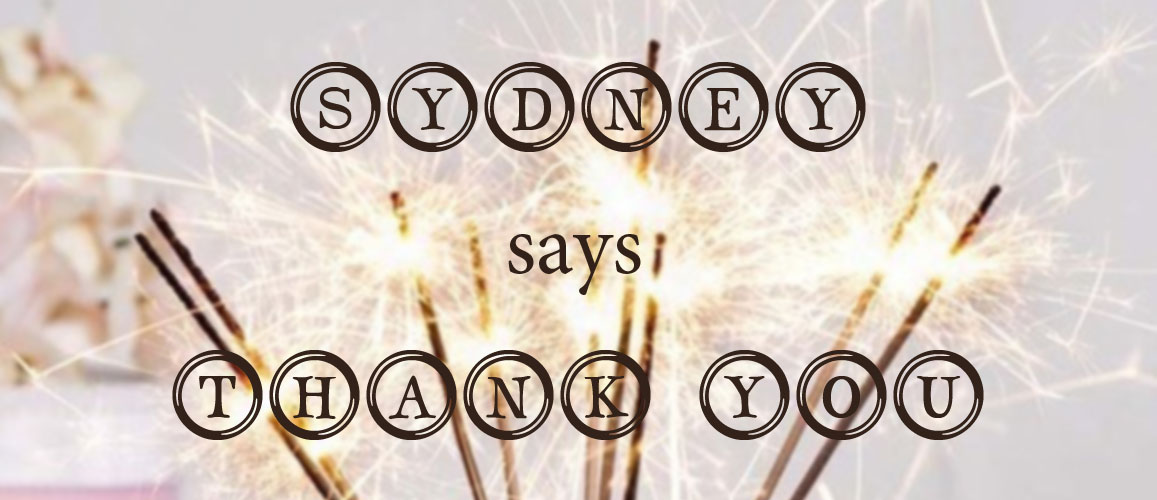 sydney says thank you