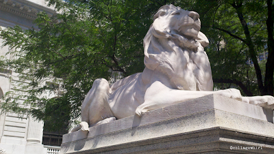 NYPL lion, New York Public Library lion