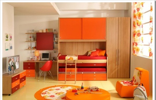 ـأحبڪْ } . . ڪِثرِ مآصُۆِتڪْ يَخدرِنيٌےً ۆ ِأدمَنتہ..! Orange-modern-Kids-Room-designs3