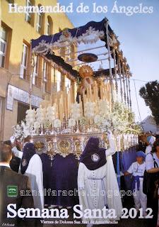 Cartel de la Semana Santa de San Juan de Aznalfarache 2012 - Hermandad de los Angeles