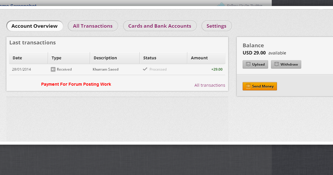 online casino payment proof