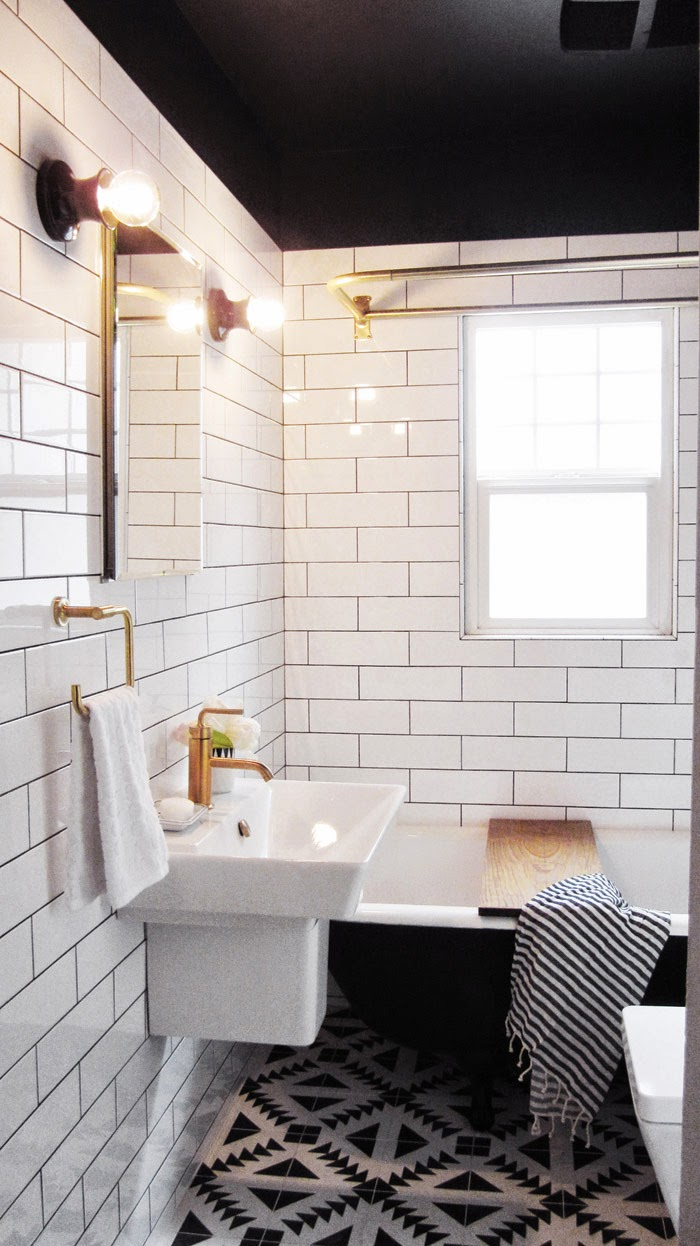 squeaky clean white bathroom - carriecanblog
