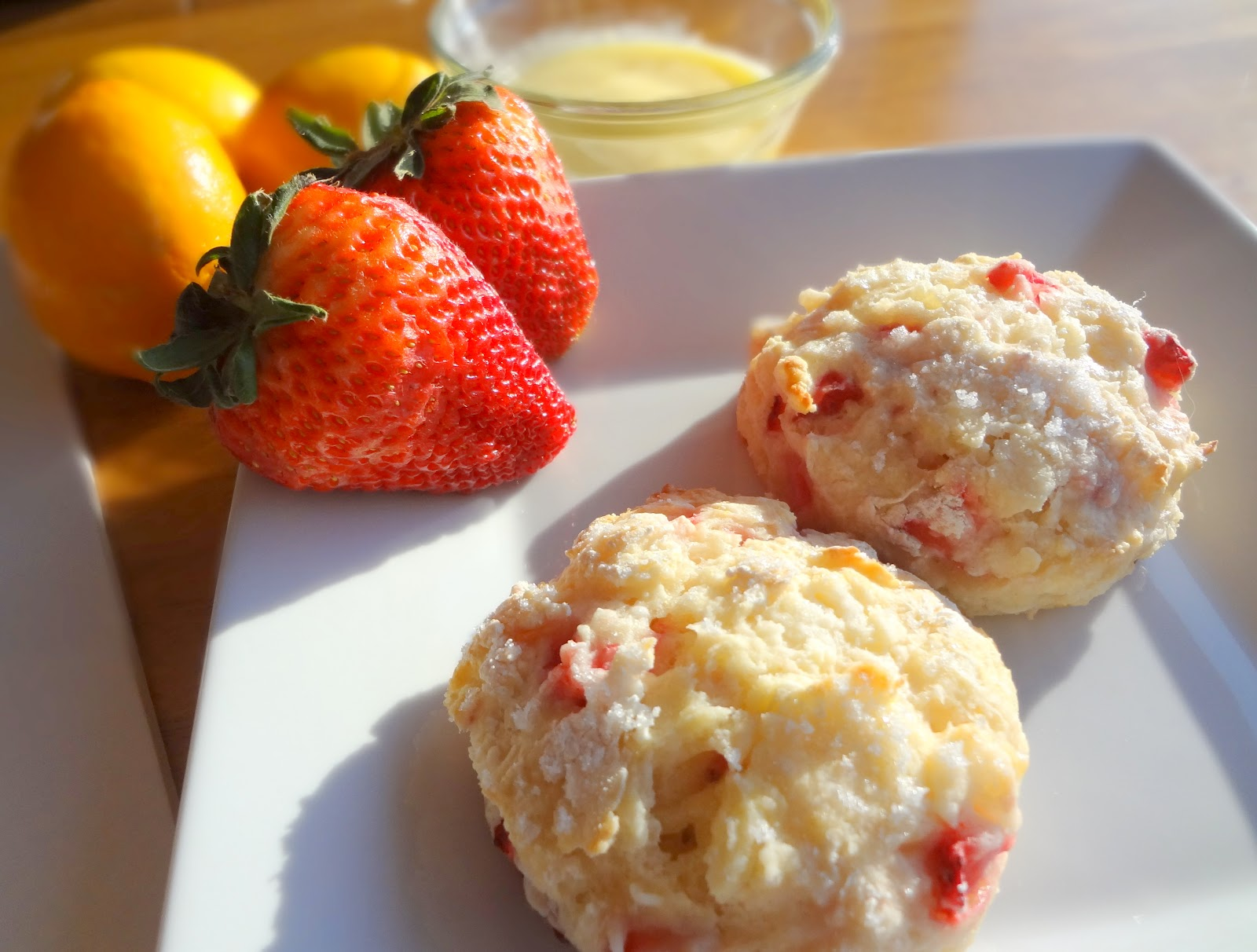 Lesson #119: Strawberry Scones with Meyer Lemon Glaze