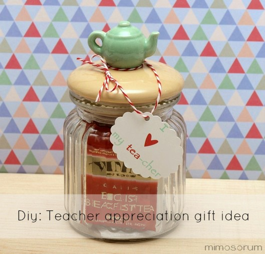 Regalo para la profesora de inglés + imprimible gratis. Diy: Teacher appreciation gift idea