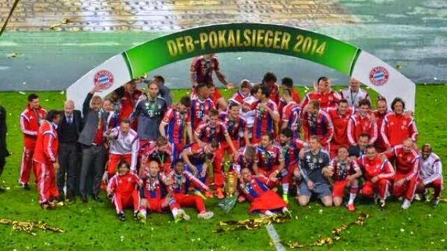 احتفالات بايرن ميونخ بلقب كأس المانيا