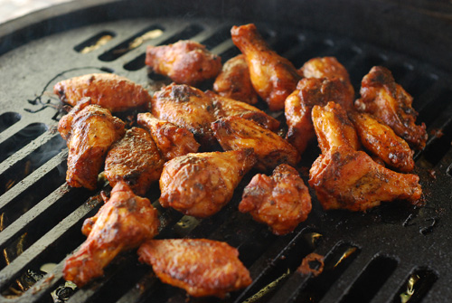 Big Green Egg wings, Game Day appetizer