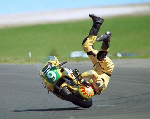 Funny bike accident image, sports bike crash picture, bike ...