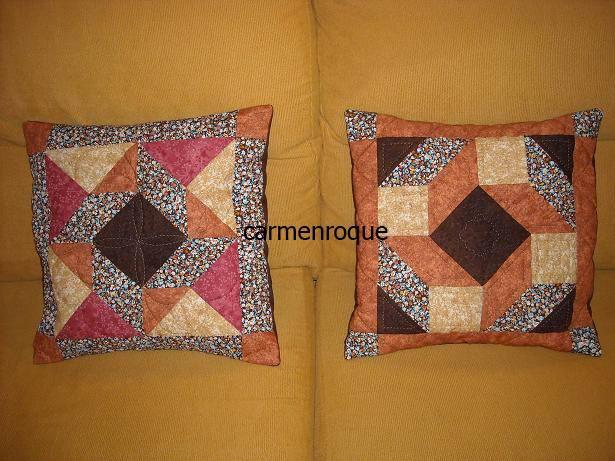 El rincon de las manualidades: Cojines patchwork,