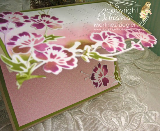 flower border edge card side view